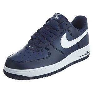 Navy blue airforce ones